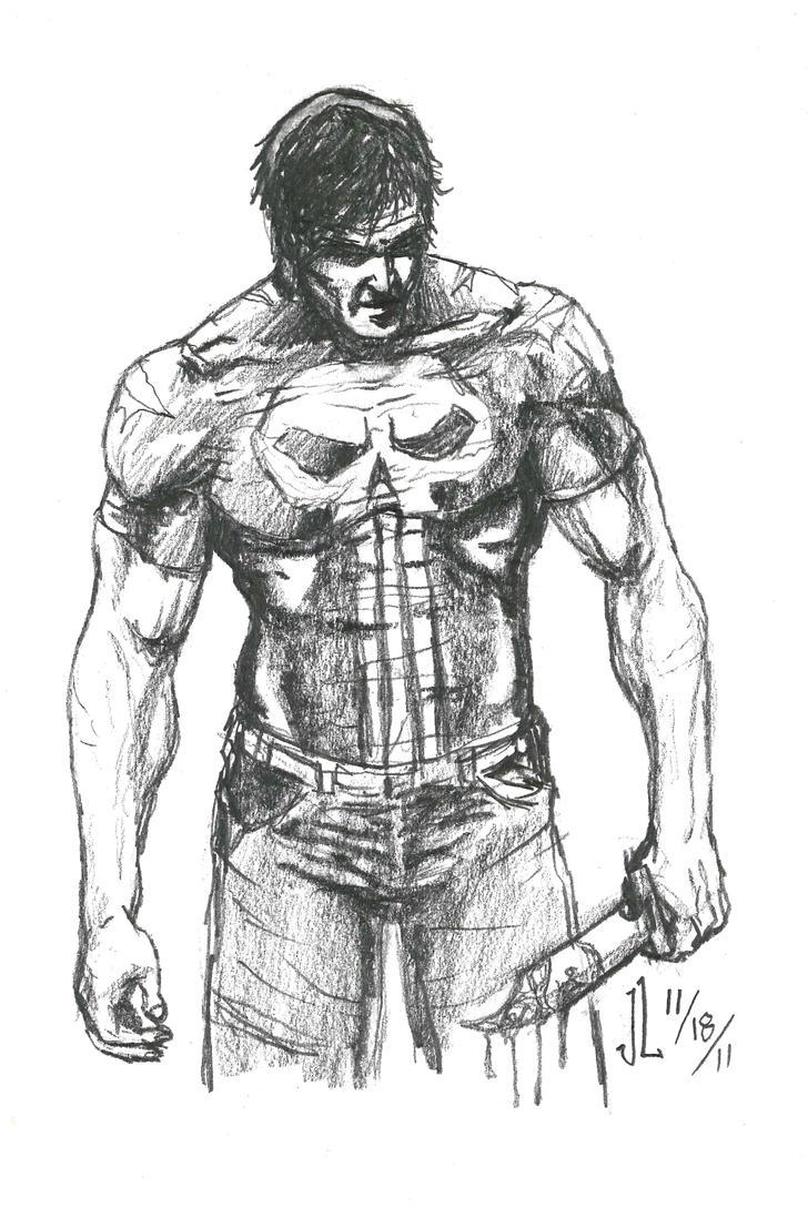 Punisher - NOV '11 Sketch a Day 18 by JeremiahLambertArt