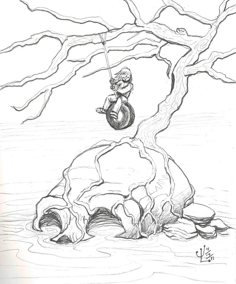 Skull Island - NOV '11 Sketch a Day 19 by JeremiahLambertArt