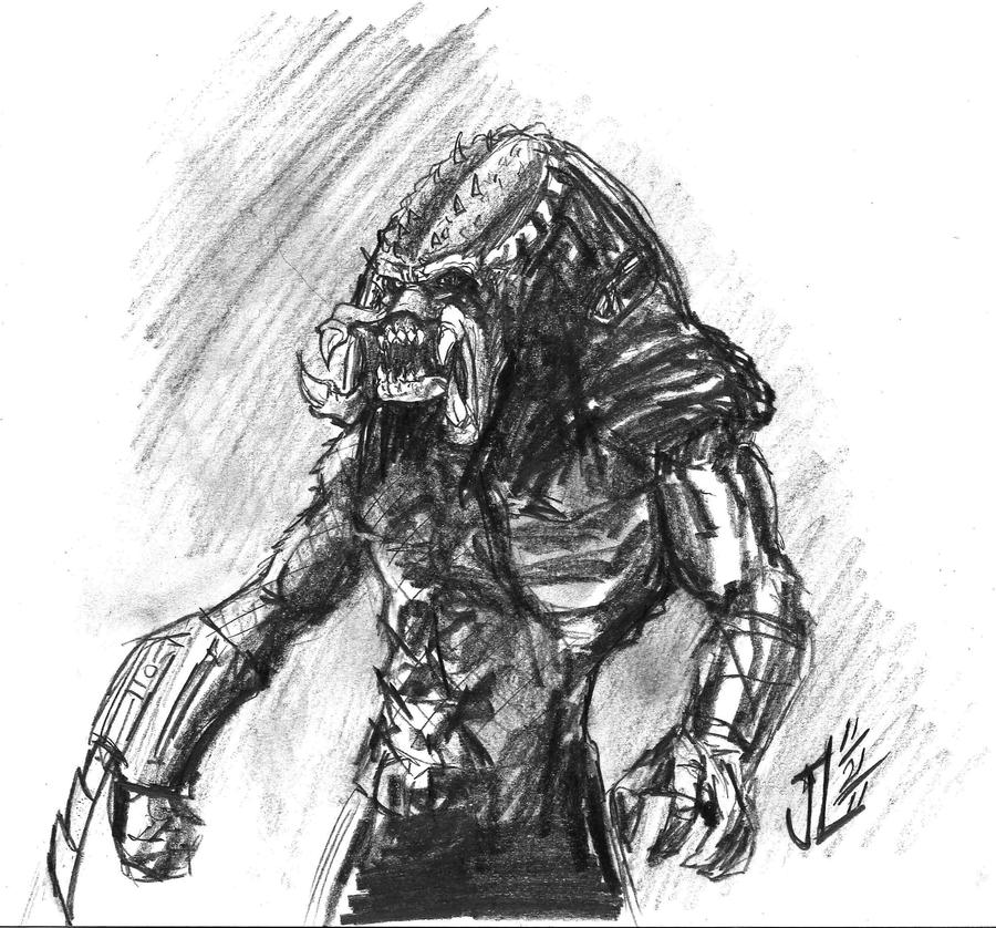 Predator - NOV '11 Sketch a Day 21 by JeremiahLambertArt
