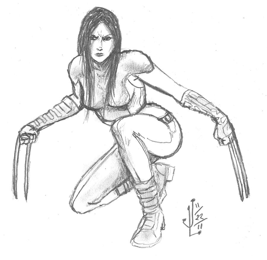 X-23 - NOV '11 Sketch a Day 22 by JeremiahLambertArt