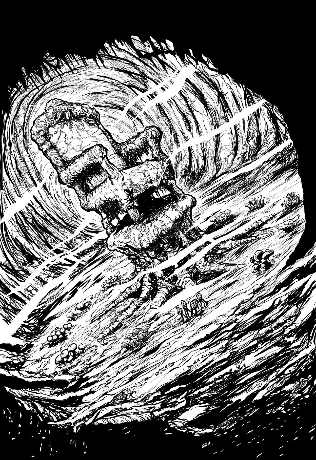 The Mushroom Murders pg 1 INKS by JeremiahLambertArt