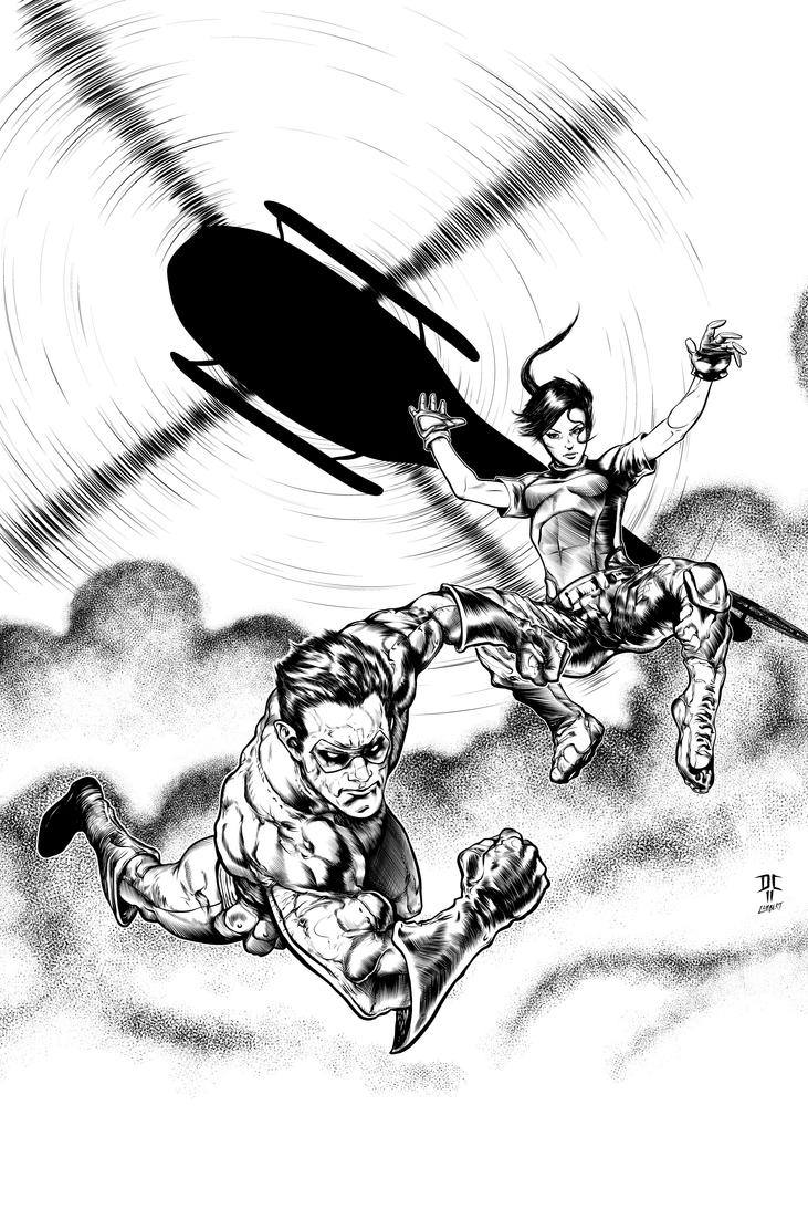 Danger Close by Danny Cruz INKS by JeremiahLambertArt