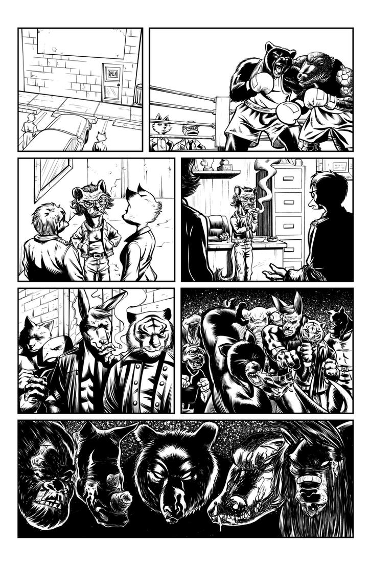 Jack Fowl pg 6 INKS by JeremiahLambertArt