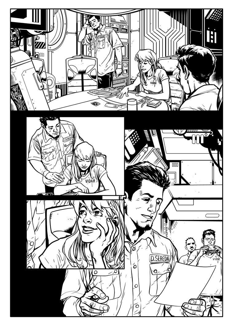 Aliens 1 pg 8 INKS by JeremiahLambertArt