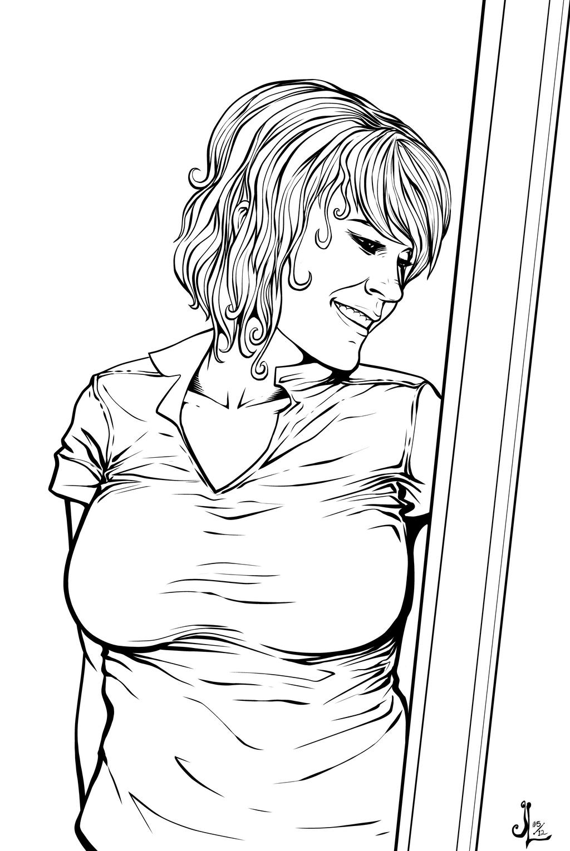 Emily Mayre 2 INKS by JeremiahLambertArt