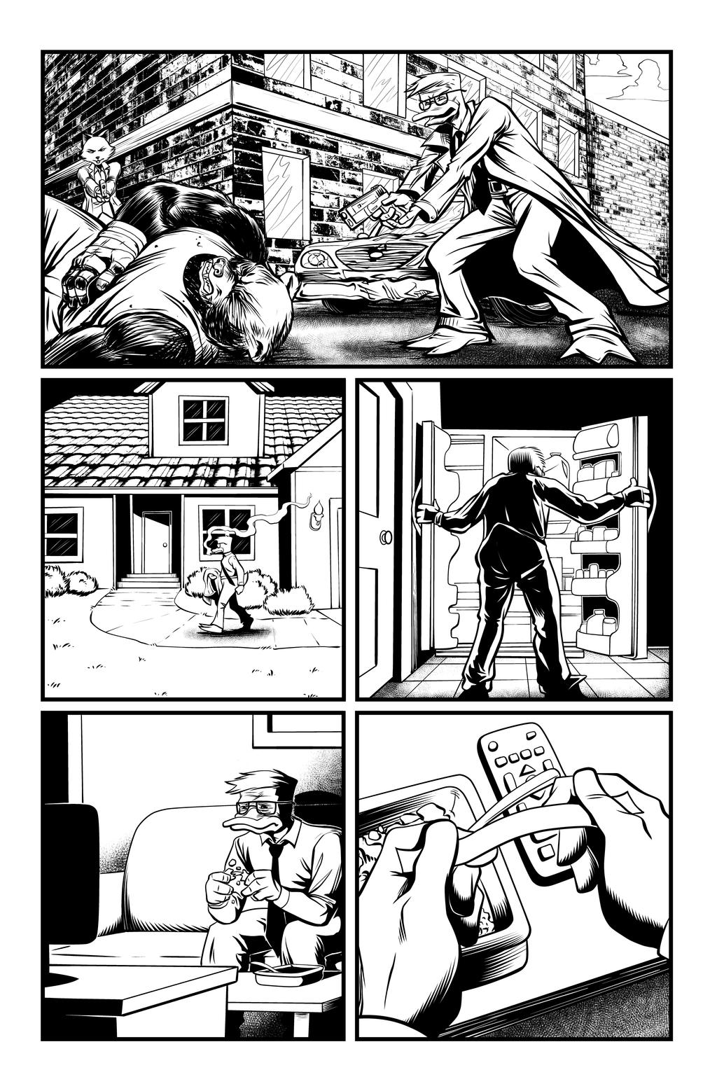 Jack Fowl pg 8 INKS by JeremiahLambertArt