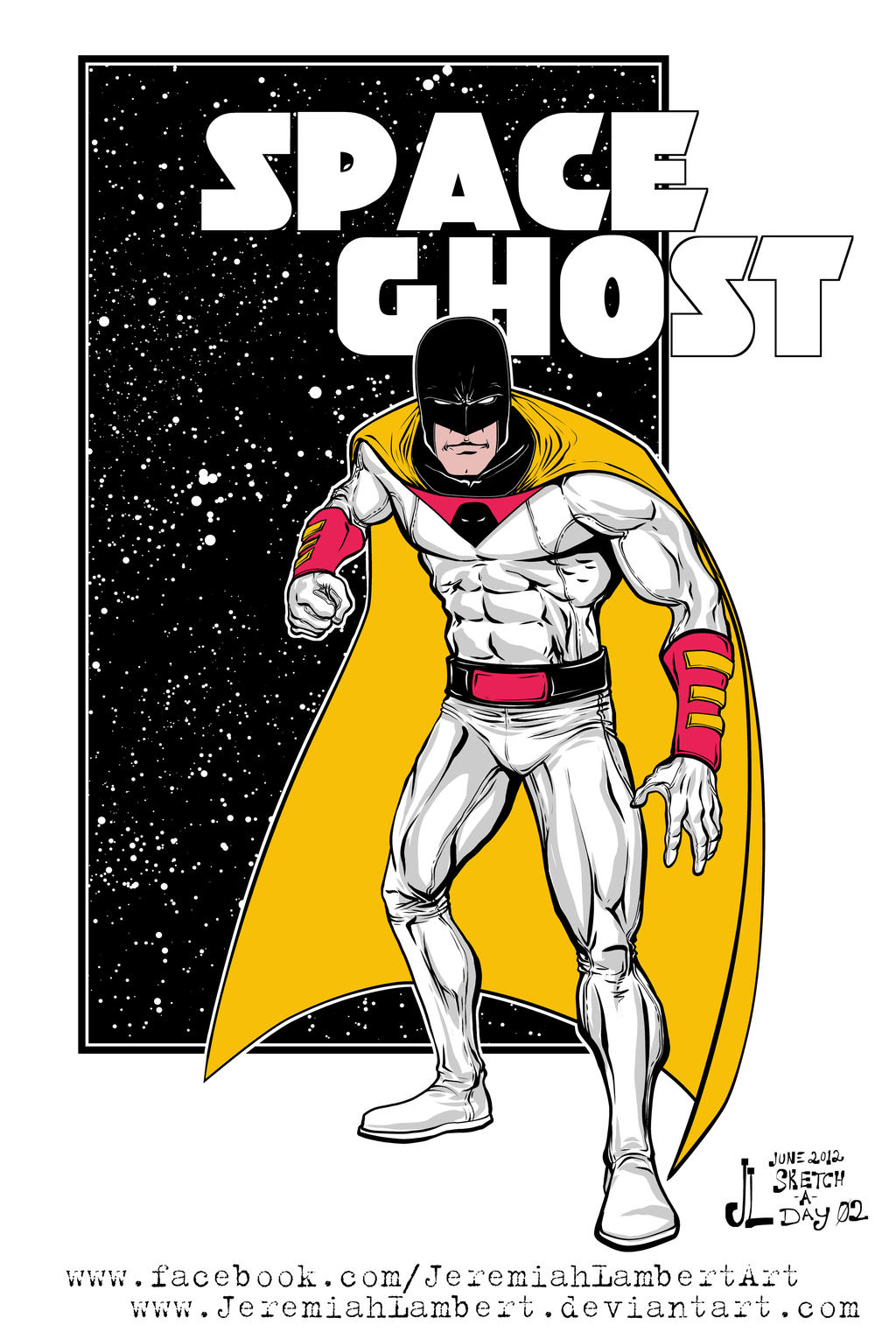 Space Ghost - June 2012 Sketch-a-Day 02 by JeremiahLambertArt