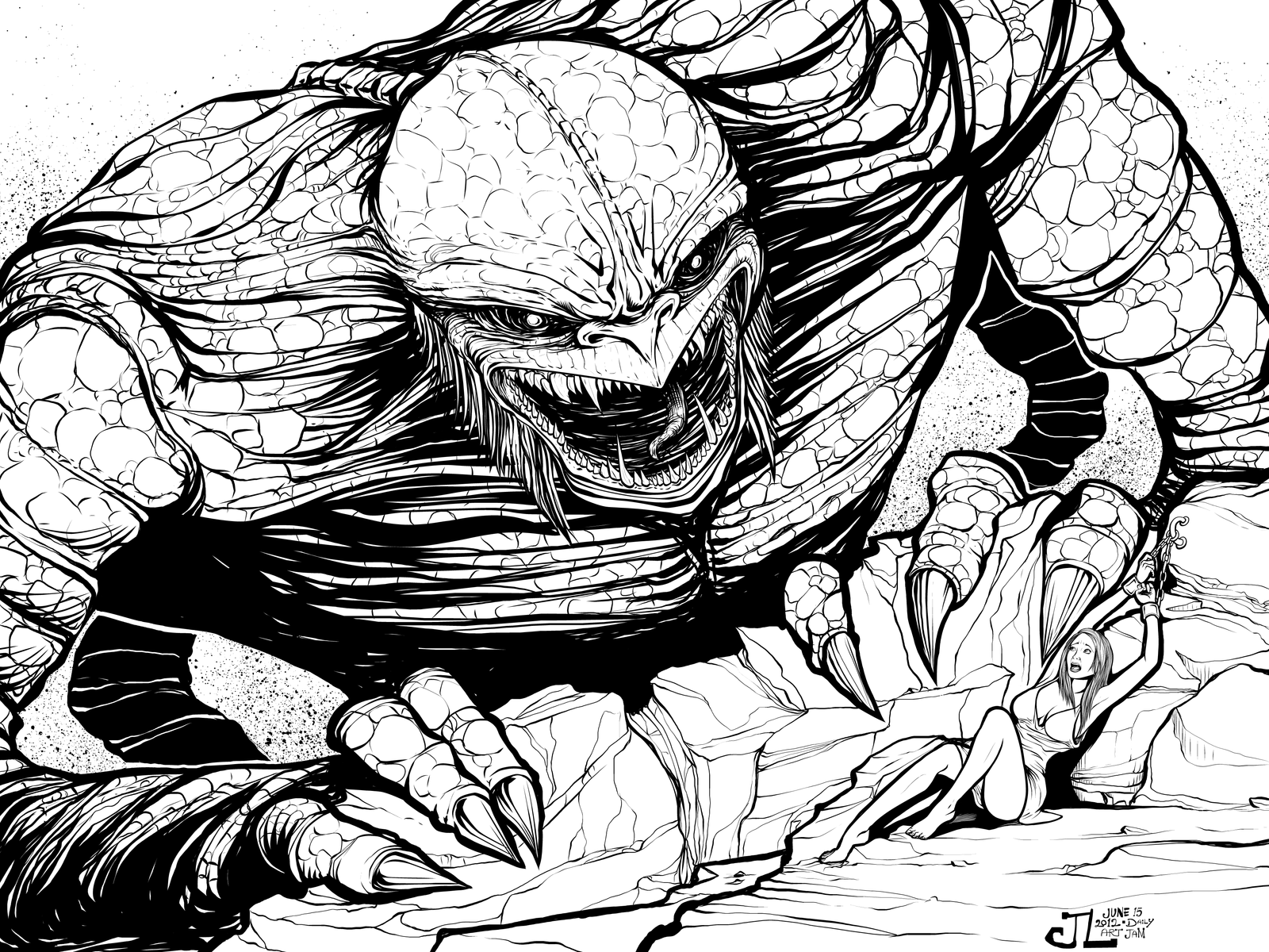 The Kraken -June '12 Daily Art Jam- Day 15 by JeremiahLambertArt