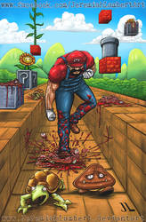 Super Killer Mario by JeremiahLambertArt