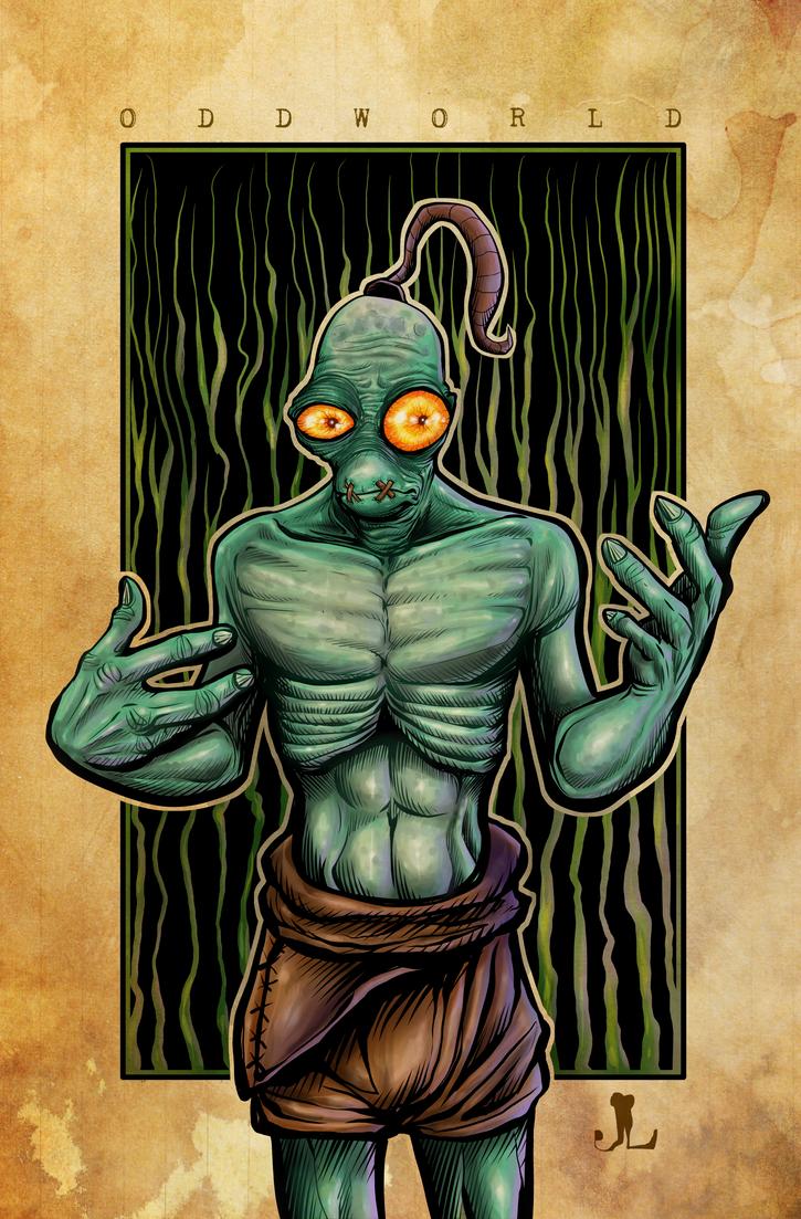 Oddworld - NEW BG by JeremiahLambertArt