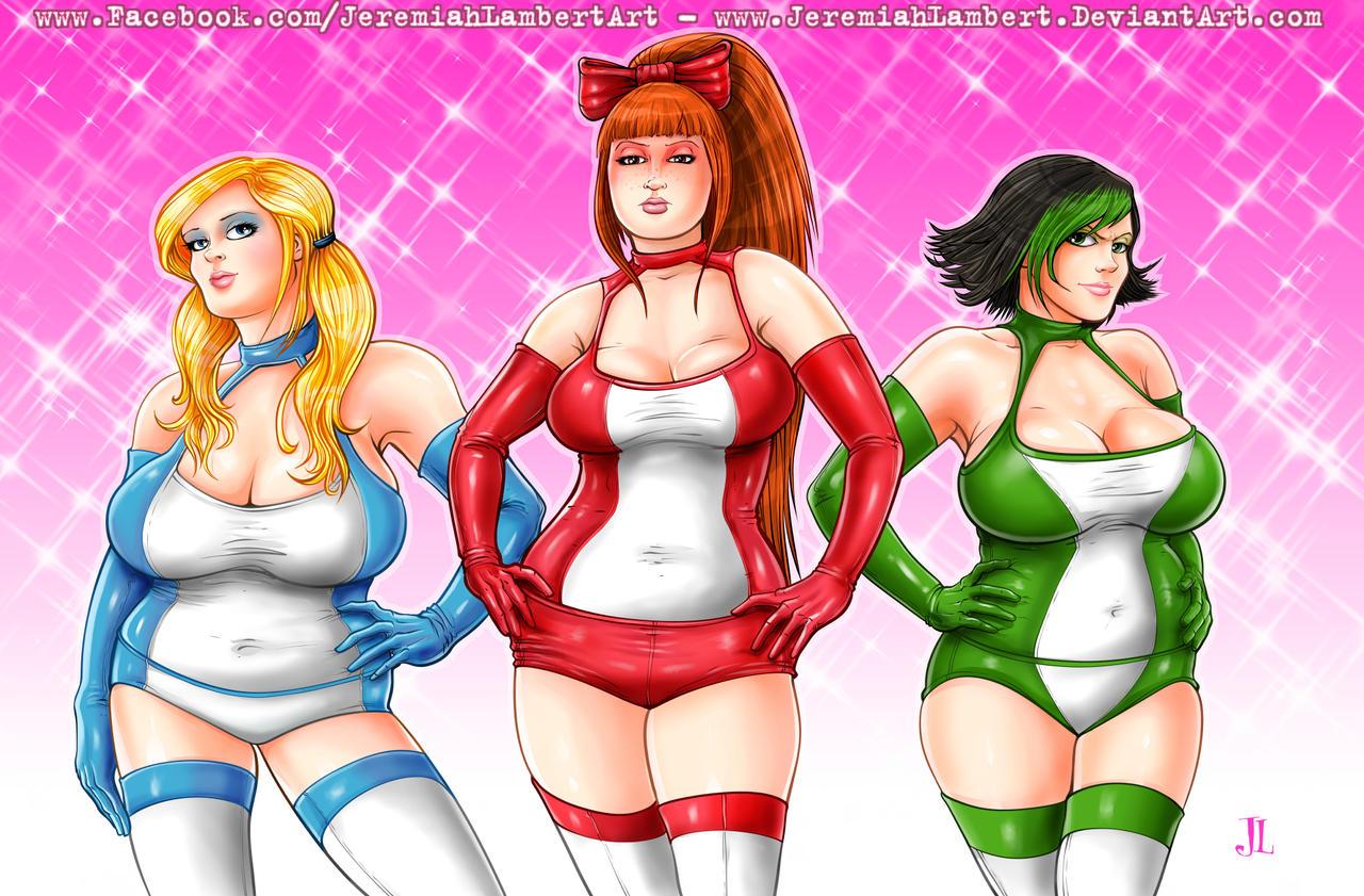 PowerPuff Girls - Jan 6 '14 Art Jam by JeremiahLambertArt