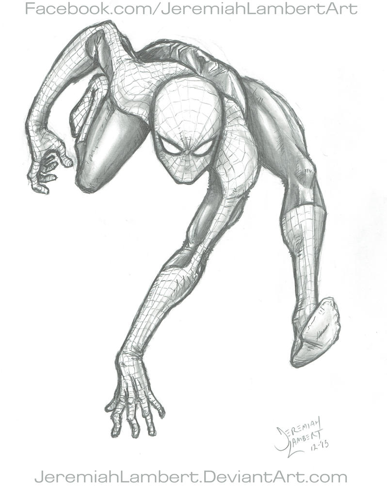 Spidey Sketch by JeremiahLambertArt
