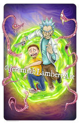 Rick and Morty by JeremiahLambertArt