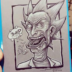 Rick Burping by JeremiahLambertArt