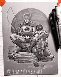 Rockwell Homage: Batman and Robin '66 by JeremiahLambertArt