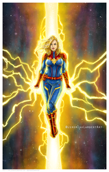 Captain Marvel by JeremiahLambertArt