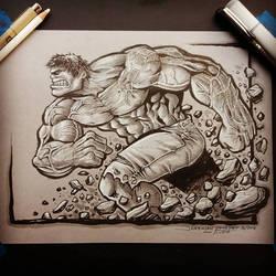 Hulk commish by JeremiahLambertArt