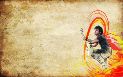 Rocker Line Art Wallpaper