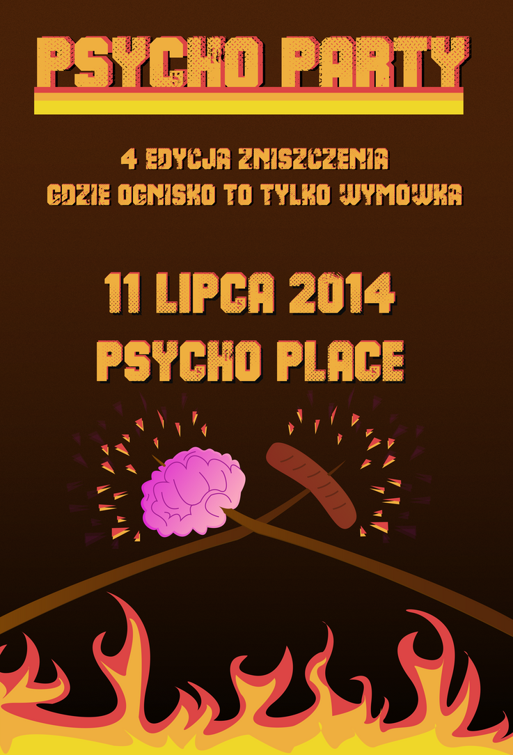 psycho party plakat by benyshou