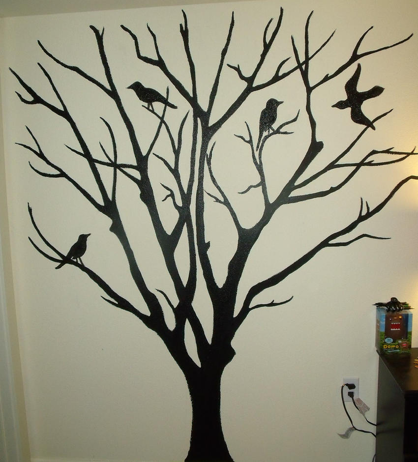 Tree mural by shyredd on deviantart for Creating a mural