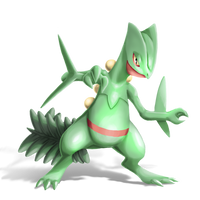 Sceptile for Smash Bros. Transparent by Yfighter2