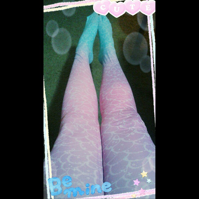Mermaid tights by CupcakeMassacreBear