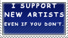03 New Artist Support by PinappleStamps