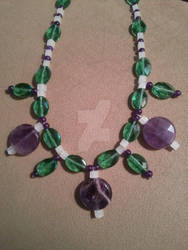 Amethyst and Glass Beaded Necklace, One of a Kind