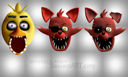 Heads - Chica and Foxy