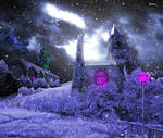 Frozen World -Frost Mountains- (Snowing) by heavenly-roads
