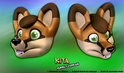Kita - 3D Head Model (fursuit version) by heavenly-roads