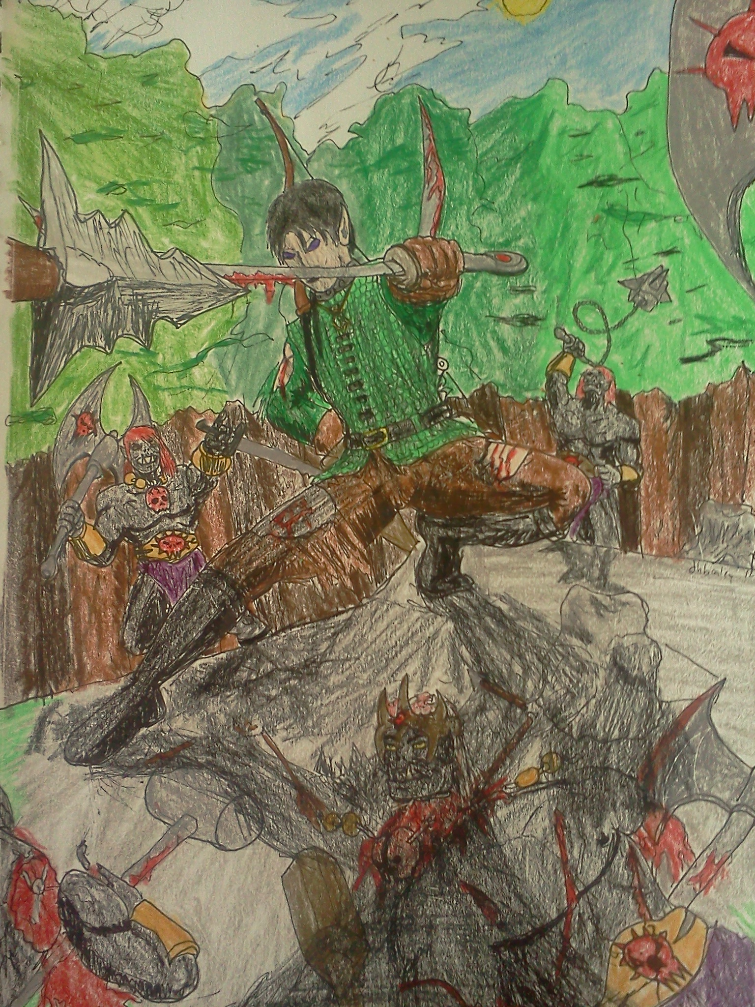 Riordan vs the Ogres by dhbraley