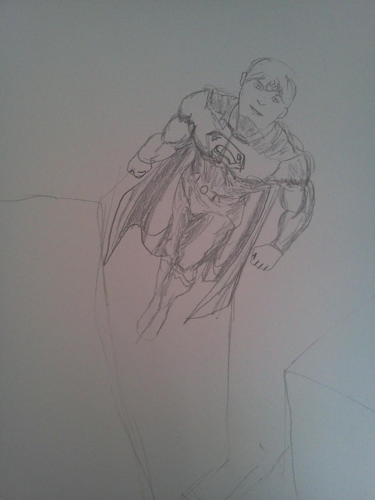 Quick Sketch: Superman by dhbraley