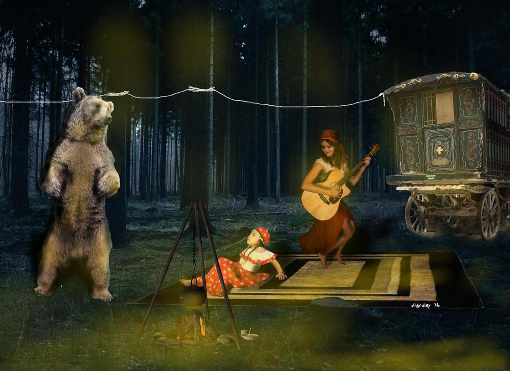 Dancing bear hub-1302
