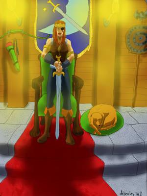 Hail, Rhiannon, the Warrior Queen (digital) by dhbraley