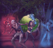 Assault on the Zombie Queen's Lair by dhbraley