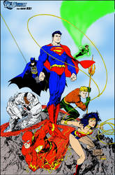 Greg Capullo's Justice League (color practice) by dhbraley