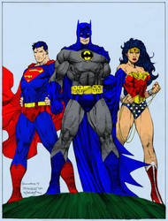 DC's Trinity by Jim Lee (color practice for me) by dhbraley