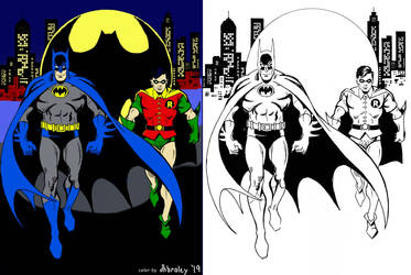 Batman and Robin Classic Color practice by dhbraley