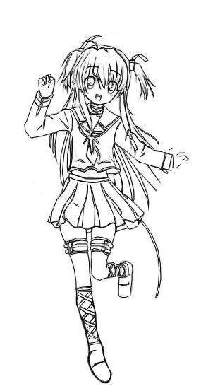 Angel Beats Coloring Pages