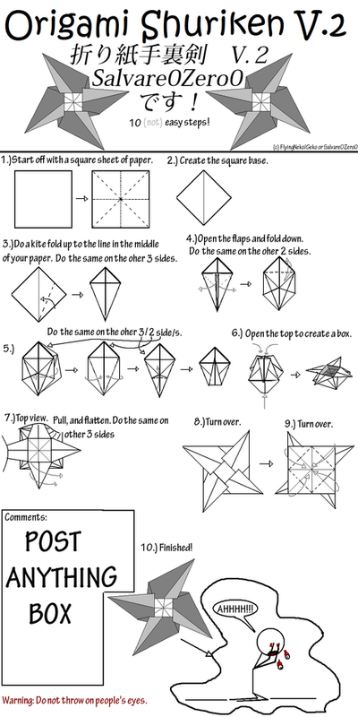 How to make origami ninja star frisbee step by step