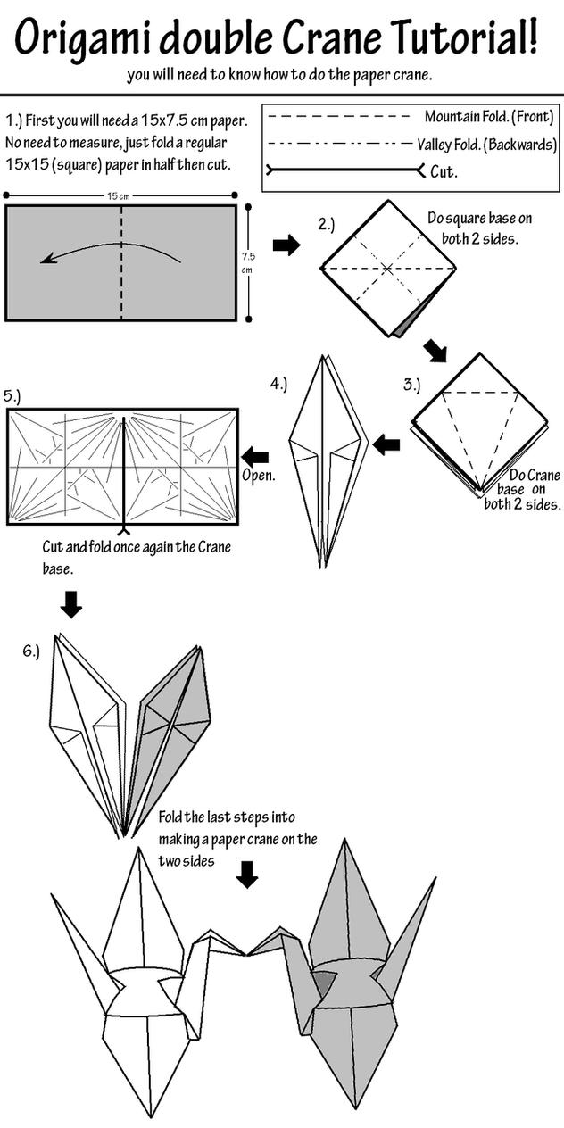Origami Kissing Crane Tutorial by Salvare0Zero0 on DeviantArt - photo#30