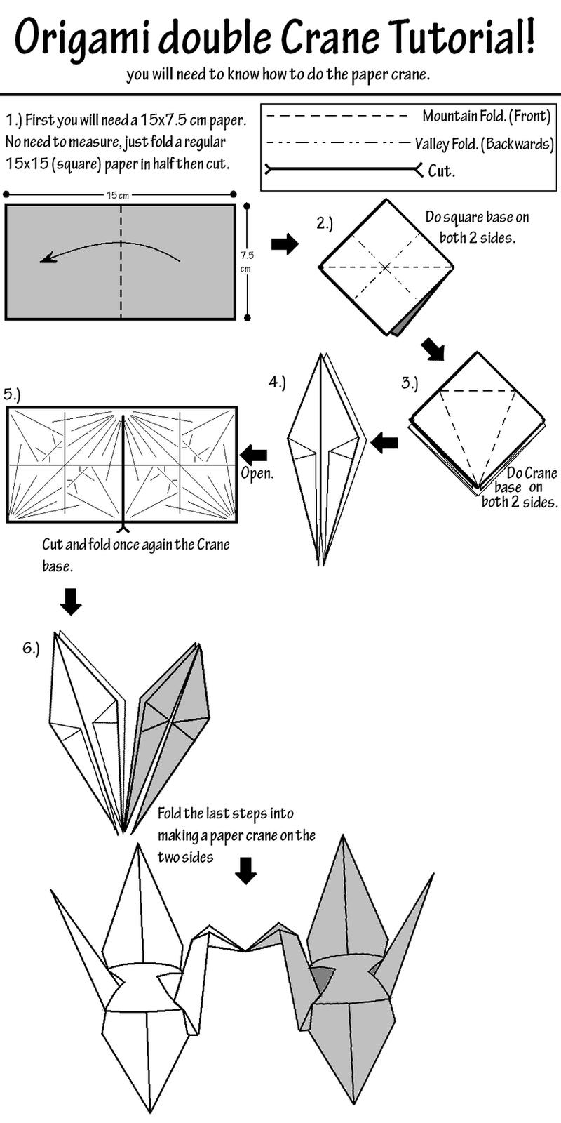 origami kissing crane tutorial by salvare0zero0 on deviantart