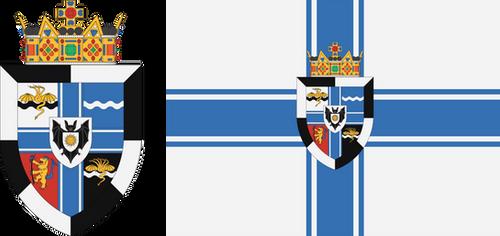 Kingdom of the Athonians - CoA and Flag by Tonio103
