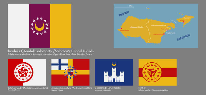 Flags of the cons. States of Citadel Islands