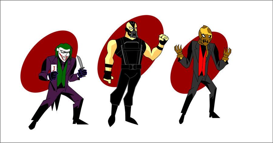 batman villains, animated series stile by CrimsonFace on ...