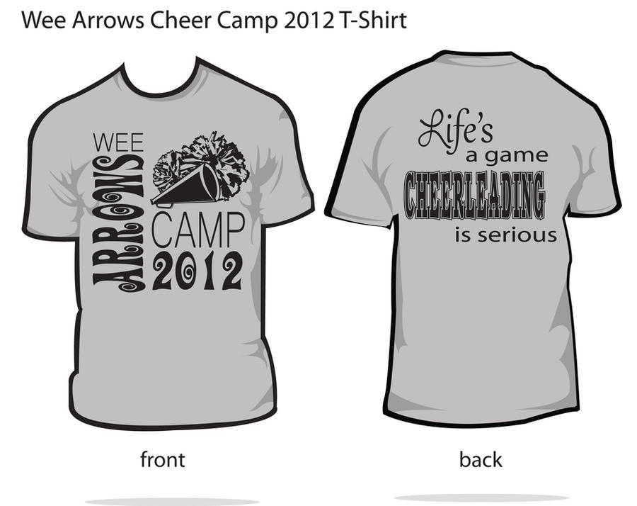 cheer shirts tumblr arrows cheerleading camp shirt