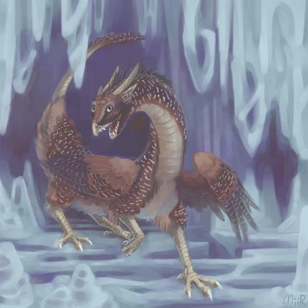Chicken Dragon on Ice by miirgan