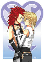 Axel x Roxas Colored by WickedRin