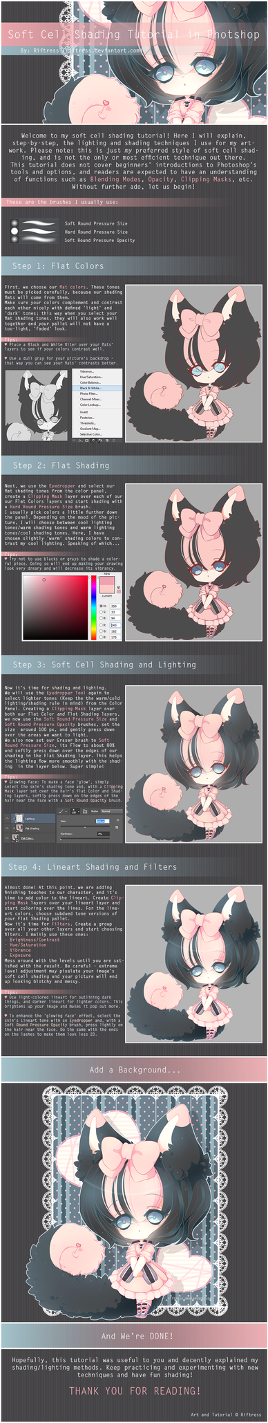 Soft Cel Shading Tutorial in Photoshop by Riftress